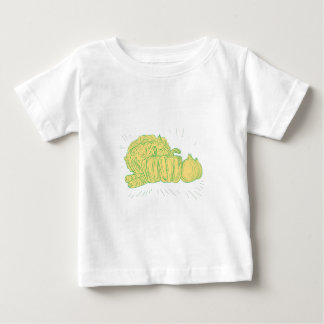 Brocolli Capsicum Onion Drawing Baby T-Shirt