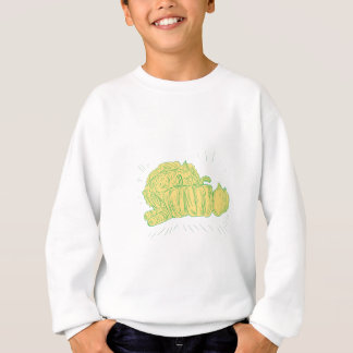 Brocolli Capsicum Onion Drawing Sweatshirt