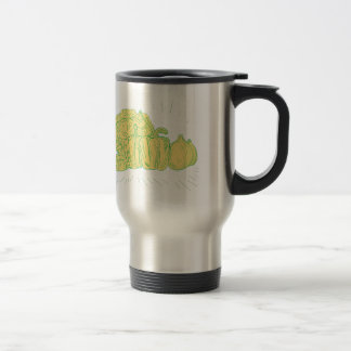 Brocolli Capsicum Onion Drawing Travel Mug