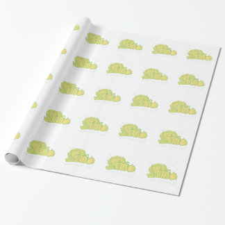 Brocolli Capsicum Onion Drawing Wrapping Paper