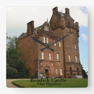 Brodick Castle – Clan Hamilton Square Wall Clock