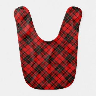 Brodie clan tartan red black plaid bib