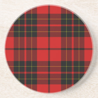 Brodie clan tartan red black plaid coaster
