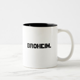"""broheim"" penholder/mug Two-Tone coffee mug"