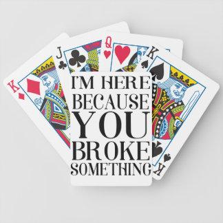 broke bicycle playing cards
