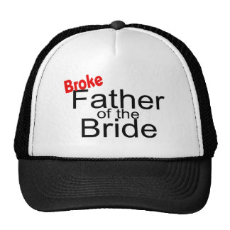 Broke Father of the Bride Mesh Hats