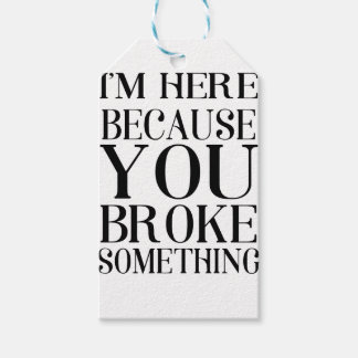 broke gift tags