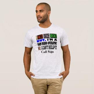 Broke Ham Radio Operator T-shirt