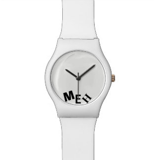 Broke White Monogrammed Watch