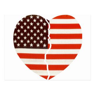 Broken American Heart Postcard
