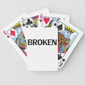 broken bicycle playing cards