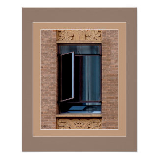 Broken Blue Window Artprint Poster