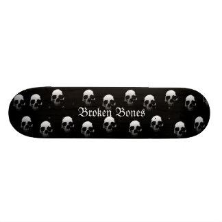 Broken Bones Shape Skulls Skate Boards