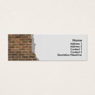 Broken Brick Wall Profile Card