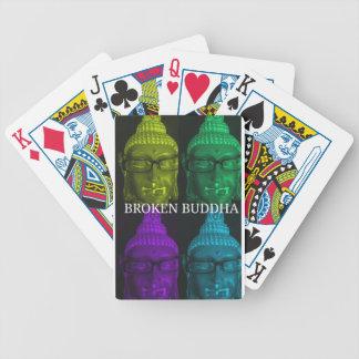 Broken buddha 4 square1 bicycle playing cards