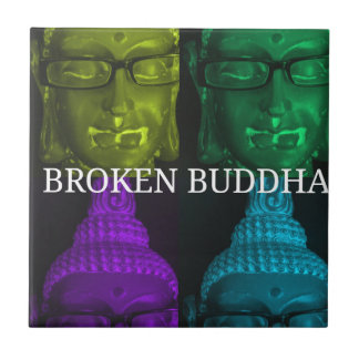 Broken buddha 4 square1 ceramic tile