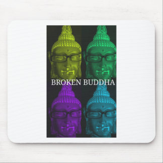 Broken buddha 4 square1 mouse pad