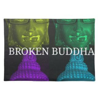 Broken buddha 4 square1 placemat