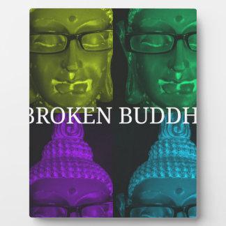 Broken buddha 4 square1 plaque