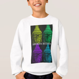 Broken buddha 4 square1 sweatshirt