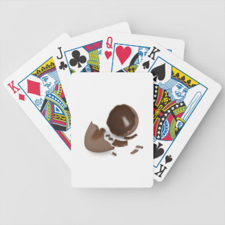 Broken chocolate egg bicycle playing cards