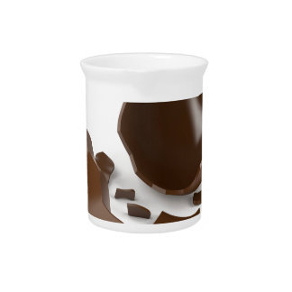 Broken chocolate egg pitcher