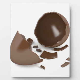Broken chocolate egg plaque