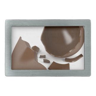 Broken chocolate egg rectangular belt buckle