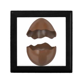 Broken chocolate egg small square gift box