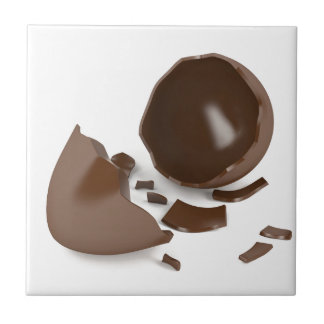 Broken chocolate egg tile
