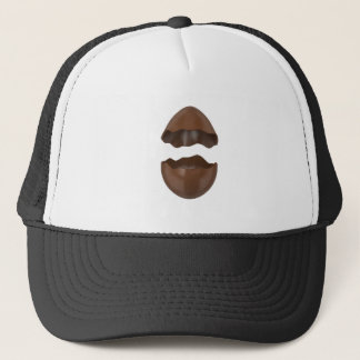 Broken chocolate egg trucker hat