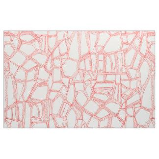 BROKEN coral off white Fabric