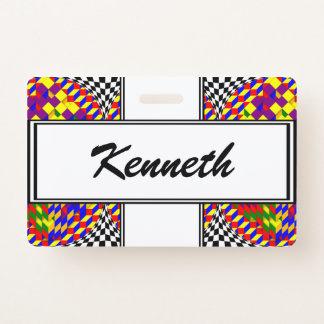 Broken Cube w/ Shadow by Kenneth Yoncich ID Badge
