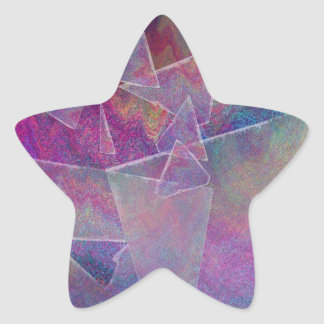 Broken Glass Abstract Art Star Sticker