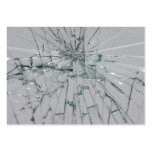 Broken Glass Background Business Cards