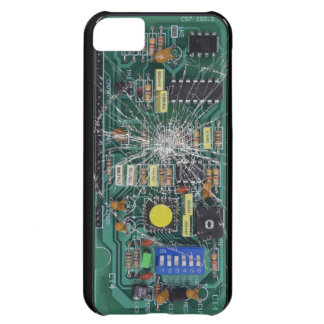 Broken Glass Circuit Board iPhone 5C Case