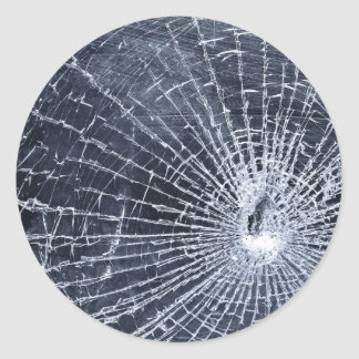 Broken Glass Classic Round Sticker