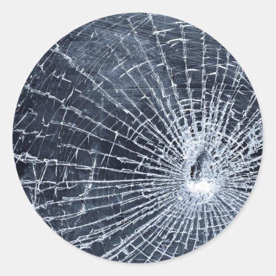 Broken Glass Classic Round Sticker Zazzle Com Au