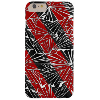 Broken Glass Diagonal Stripe Illustration Barely There iPhone 6 Plus Case