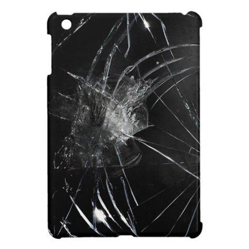 Broken glass iPad mini cover