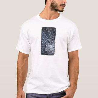 Broken glass phone T-Shirt