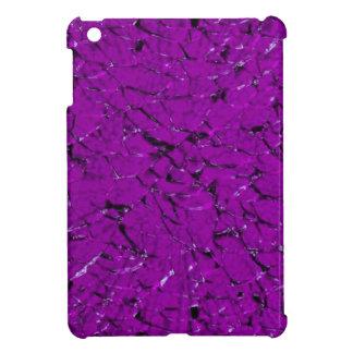 broken glass, purple iPad mini cases