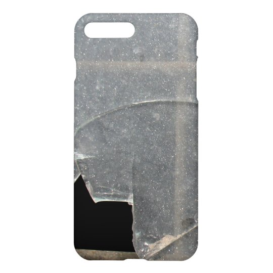 Broken Glass Window With Metal Bar iPhone 8 Plus/7 Plus Case