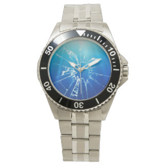 Broken Glass Wrist Watch