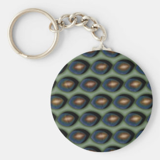 Broken Gold Eyes Keychain