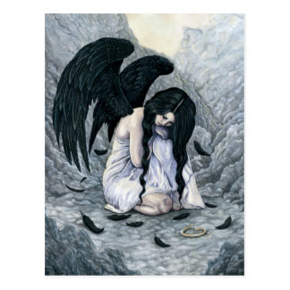 Broken Halo Fallen Angel Postcard