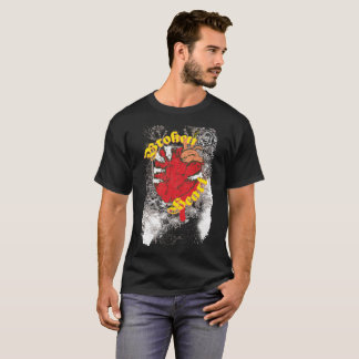 Broken Heart Bloody Corazon Noteworthy T-Shirt