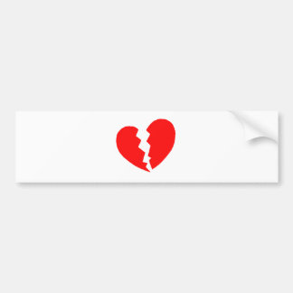 Broken Heart Bumper Sticker