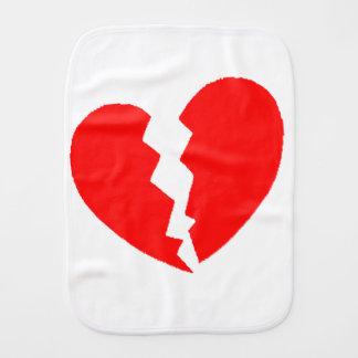 Broken Heart Burp Cloth