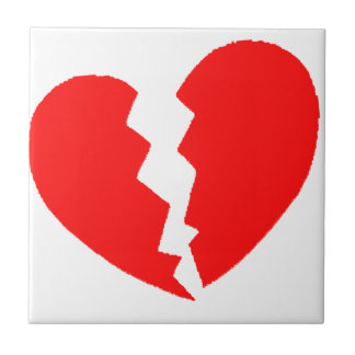 Broken Heart Ceramic Tile